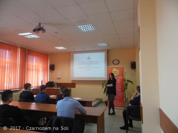 Spotkanie informacyjne w Zespole Szkół Ponadgimnazjalnych nr 1 w Inowrocławiu  - Czarnoziem Na Soli